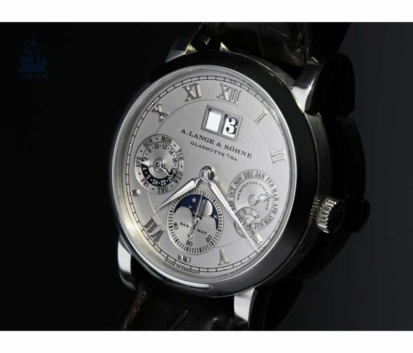 """Watch: very fine A. Lange & Sohne """"Langematik Perpetual Platinum Ref.310.025"""", in 2007/2008, with Box and certificate - photo 1"""