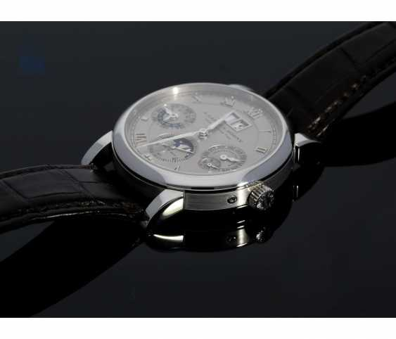"""Watch: very fine A. Lange & Sohne """"Langematik Perpetual Platinum Ref.310.025"""", in 2007/2008, with Box and certificate - photo 4"""