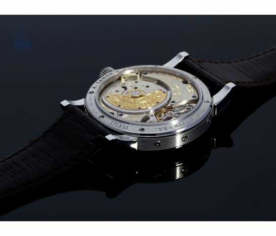 """Watch: very fine A. Lange & Sohne """"Langematik Perpetual Platinum Ref.310.025"""", in 2007/2008, with Box and certificate - photo 5"""