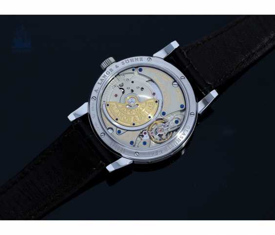 """Watch: very fine A. Lange & Sohne """"Langematik Perpetual Platinum Ref.310.025"""", in 2007/2008, with Box and certificate - photo 6"""