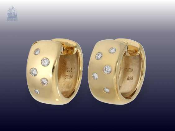 Earrings: modern, high-quality brilliant Hoop earrings, 0.36 ct. - photo 1