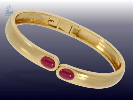 Bangle: vintage ruby bangle, crafted from 18K Gold, approx. 2,5 ct - photo 1