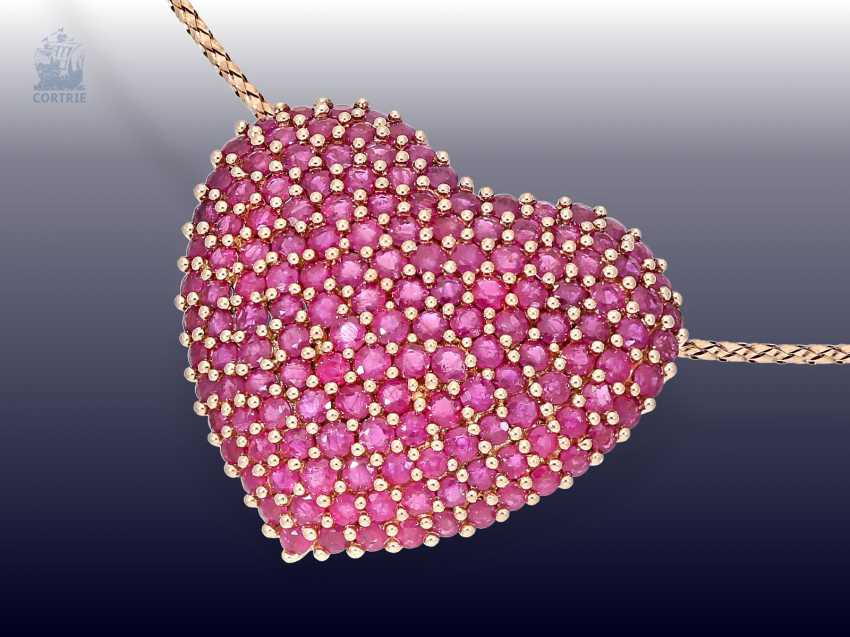 Chain/necklace: modern Italian brand of jewelry of the brand Milor, gorgeous ruby stocking - photo 1