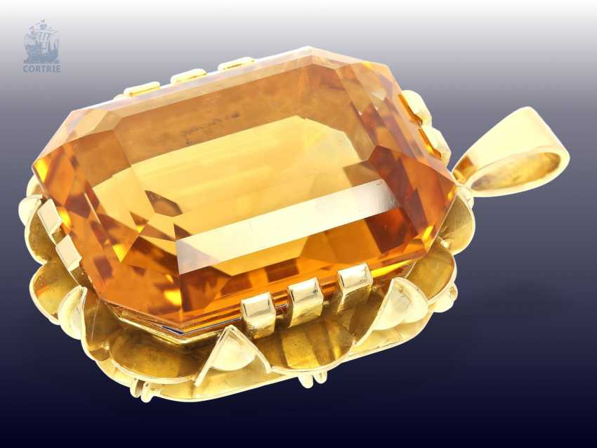 Pendant: high quality gold pendant with citrine, and crafted from 18K white Gold - photo 1