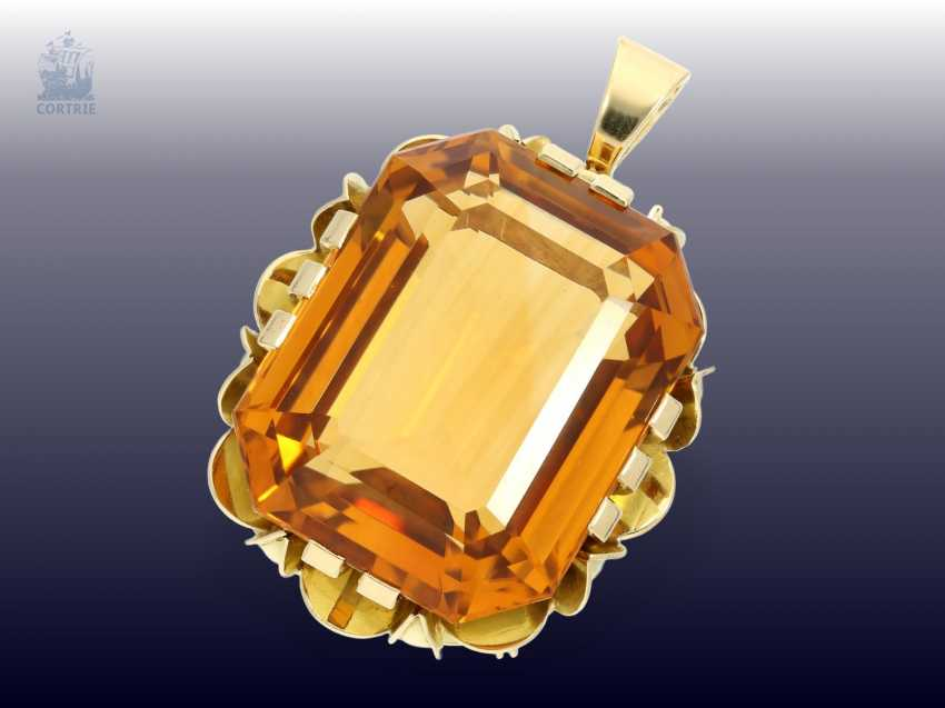 Pendant: high quality gold pendant with citrine, and crafted from 18K white Gold - photo 2