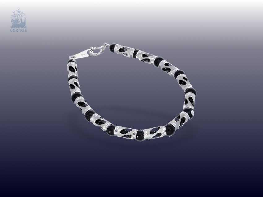Chain/necklace/bracelet: fancy Onyx Set necklace and bracelet in 18K - photo 3