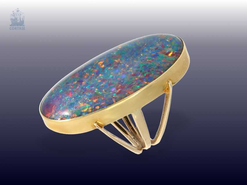 Ring: very nice, striking vintage opal ring with an exceptionally large Opal, gold-wrought work - photo 2
