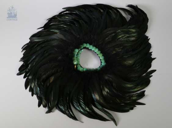 Collar: attractive vintage feather collar with stone trim, probably from the Art Deco period - photo 1
