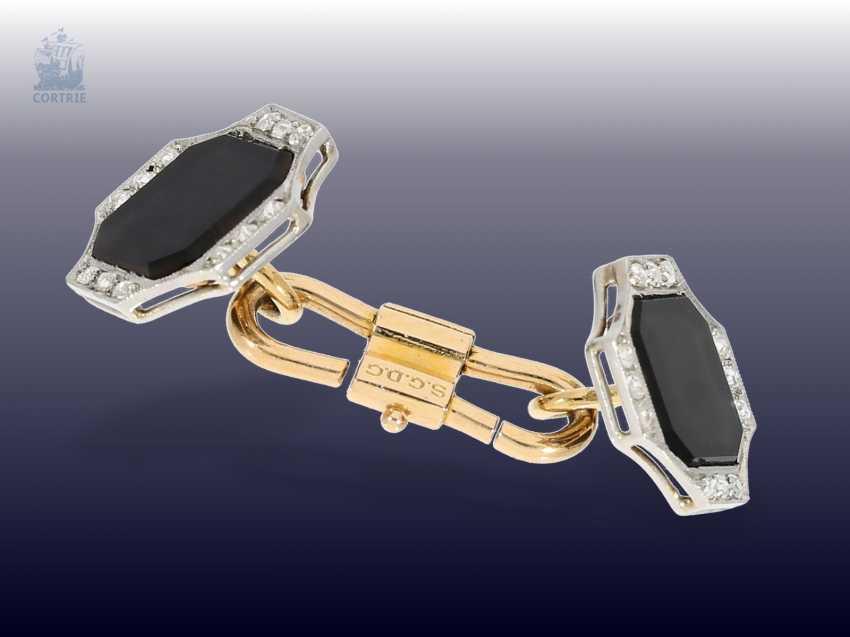 Cufflinks: fine Art Deco cufflinks with Onyx and diamonds - photo 2