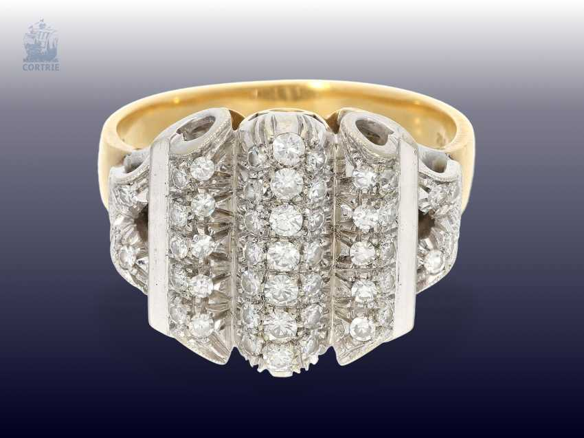 Ring: fancy and high quality vintage cocktail ring with a rich diamond trim - photo 1