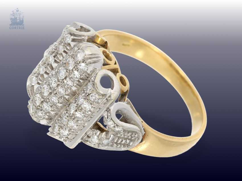 Ring: fancy and high quality vintage cocktail ring with a rich diamond trim - photo 2