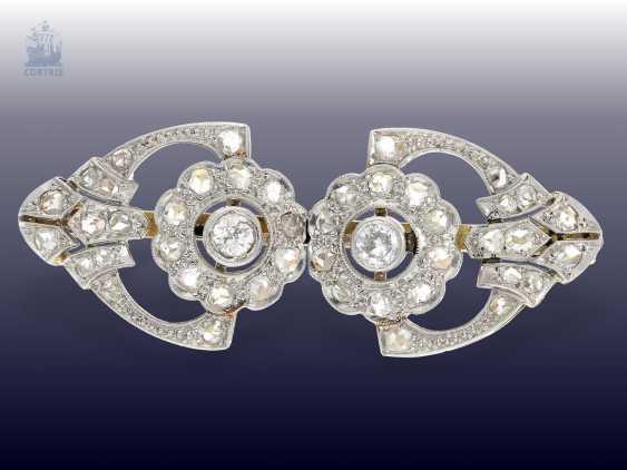 Brooch: antique brooch, with fine diamonds, 19. Century - photo 1