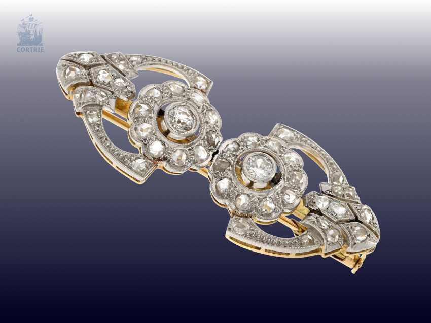 Brooch: antique brooch, with fine diamonds, 19. Century - photo 2
