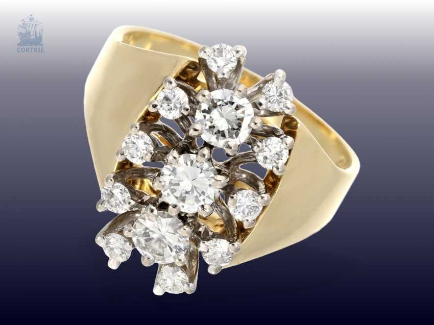 Ring: very beautiful vintage brilliant gold wrought ring, approx 1,15 ct - photo 1