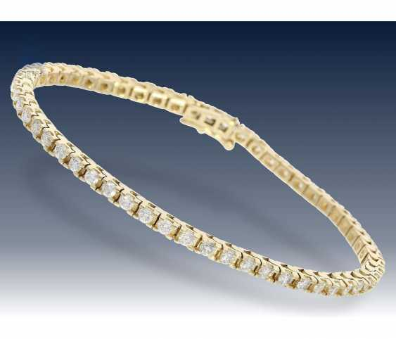 Bracelet: elegant, new and brilliant tennis bracelet, approx 2,75 ct - photo 1