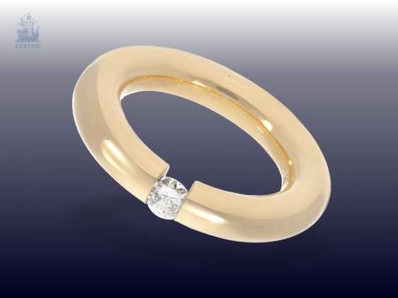 Ring: quality-crafted, solid tension ring with a fine brilliant of approximately 0.20 ct. - photo 1