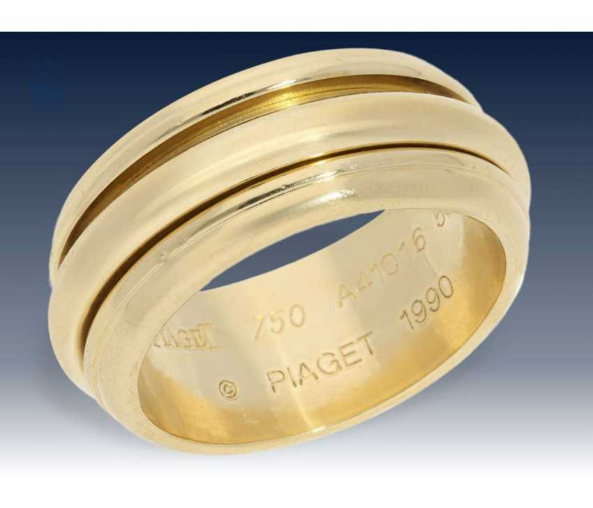 Ring: high quality, solid gold ring, wrought Piaget signed  - photo 1