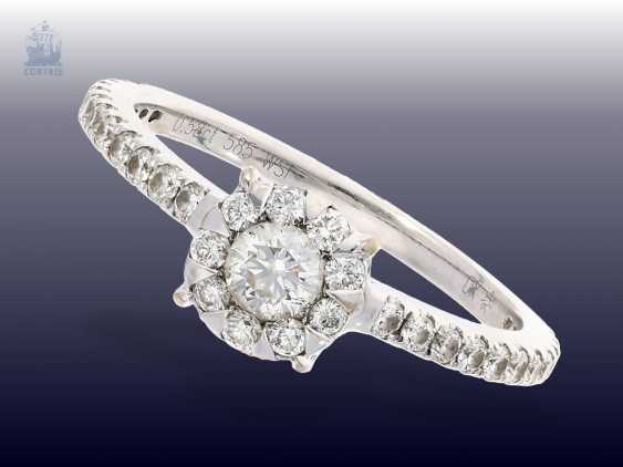Ring: white gold fine brilliant-wrought gold ring, 0.58 ct - photo 1