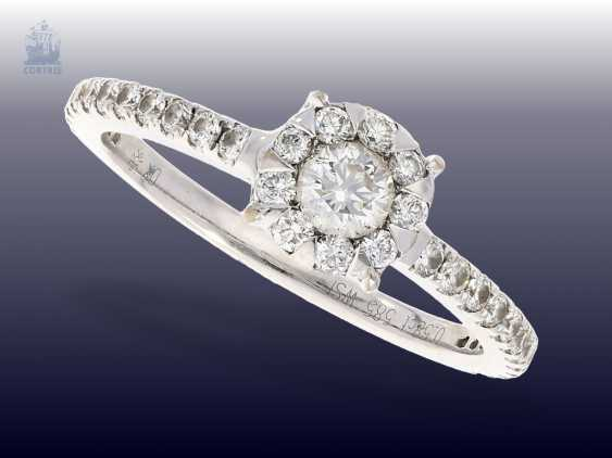 Ring: white gold fine brilliant-wrought gold ring, 0.58 ct - photo 2