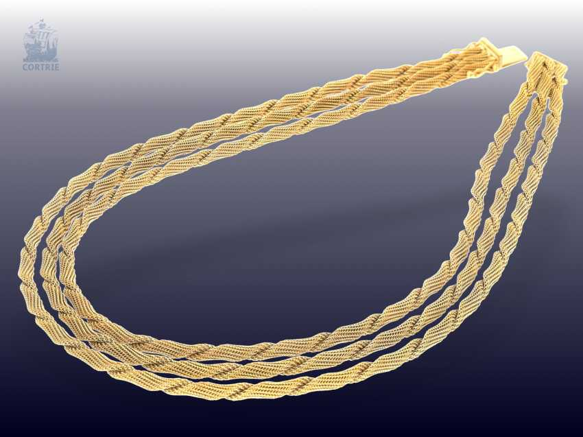 Chain/necklace: decorative and exceptionally heavy vintage gold necklace, 18K Gold, probably mid-50s - photo 1