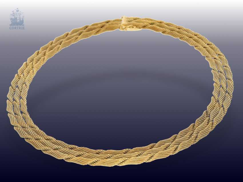 Chain/necklace: decorative and exceptionally heavy vintage gold necklace, 18K Gold, probably mid-50s - photo 2