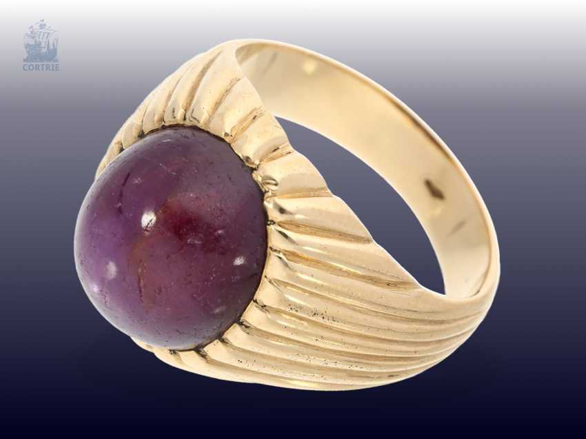 Ring: massive, vintage gold wrought ring with large star ruby of approx. 12ct - photo 2