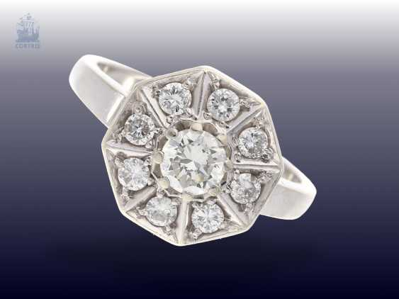Ring: exceptionally crafted vintage diamond ring, approx 0.75 ct, hand-work - photo 1