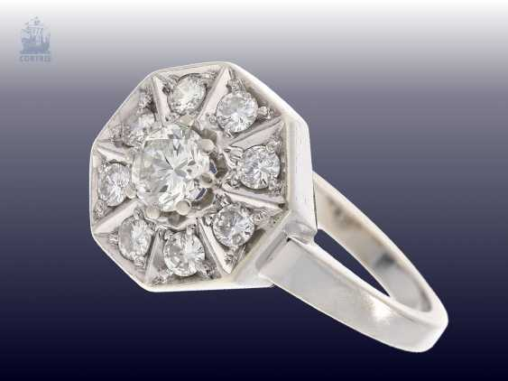 Ring: exceptionally crafted vintage diamond ring, approx 0.75 ct, hand-work - photo 2