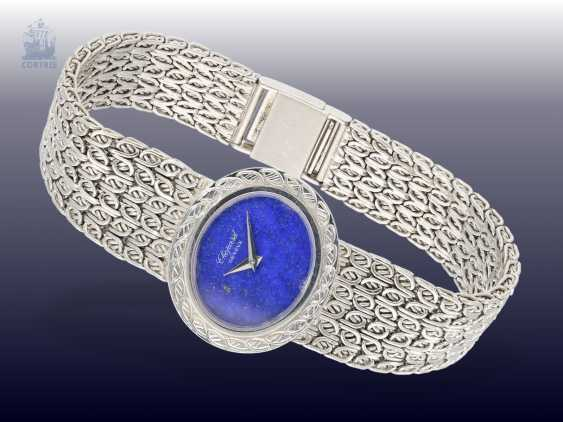 Watch: rare Chopard Design watch with lapis lazuli dial, Dating from the 1970s/80s, made in 18K white gold - photo 1