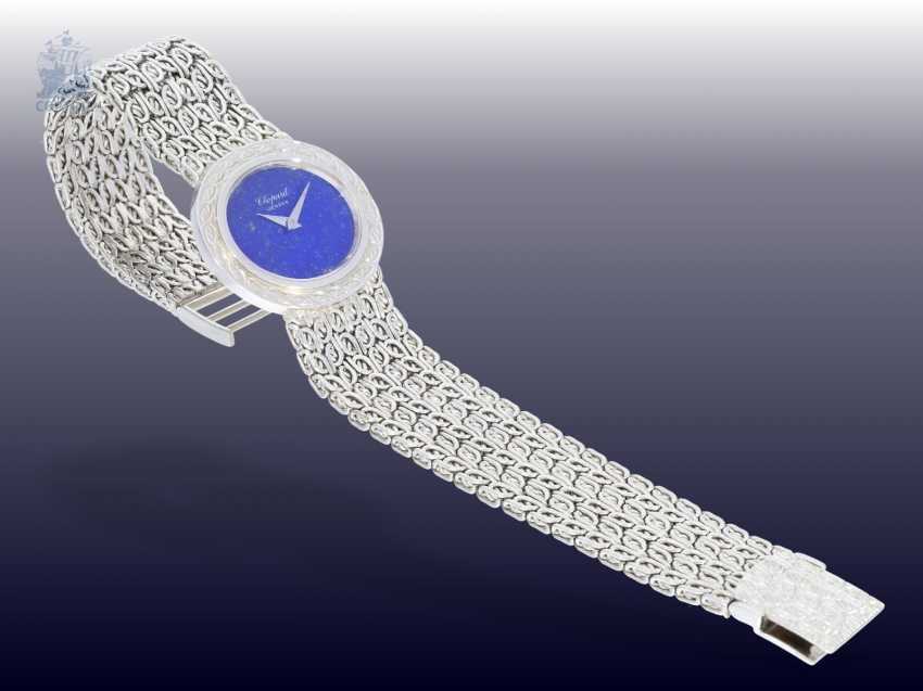 Watch: rare Chopard Design watch with lapis lazuli dial, Dating from the 1970s/80s, made in 18K white gold - photo 2