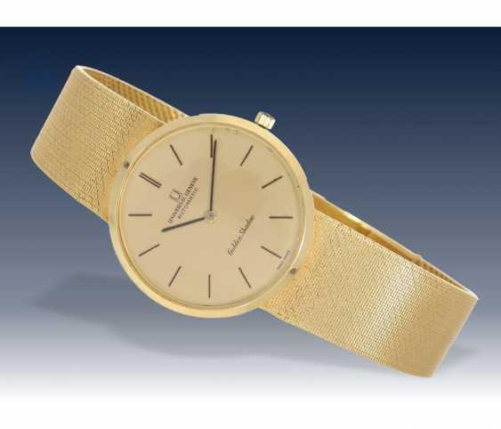 "Watch: rare vintage men's watch brand Universal Geneve, model ""Golden Shadow"", 18K Gold - photo 1"