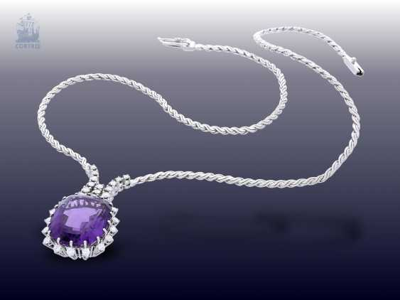 Necklace/Collier: high-quality and very decorative vintage Amethyst/brilliant-wrought gold necklace - photo 2