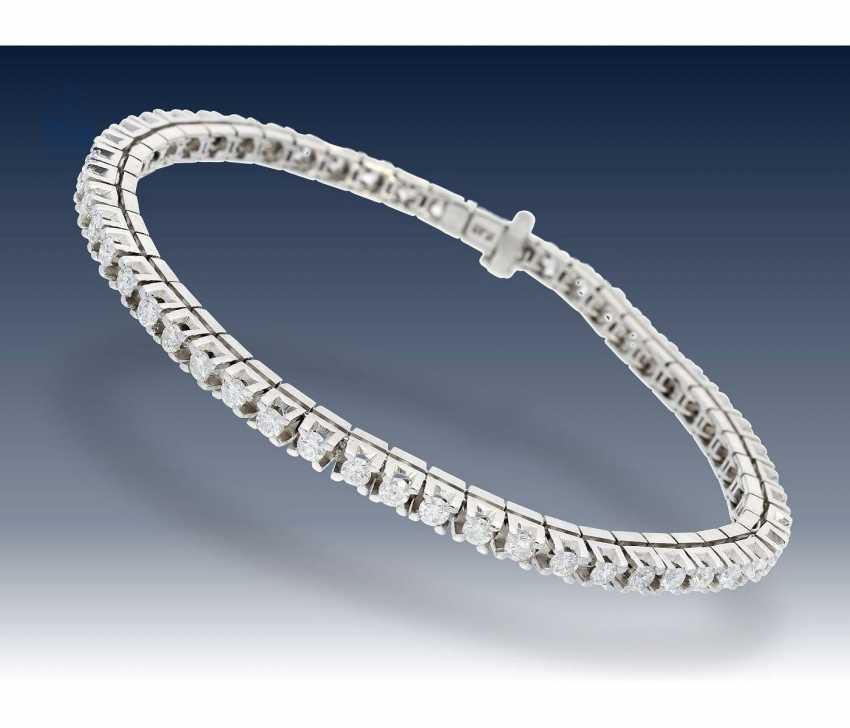 Bracelet: high-quality, hand-crafted, vintage tennis bracelet with brilliants - photo 1