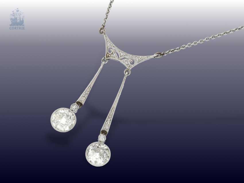 Chain/necklace: elegant antique diamond necklace, probably around 1920 - photo 1
