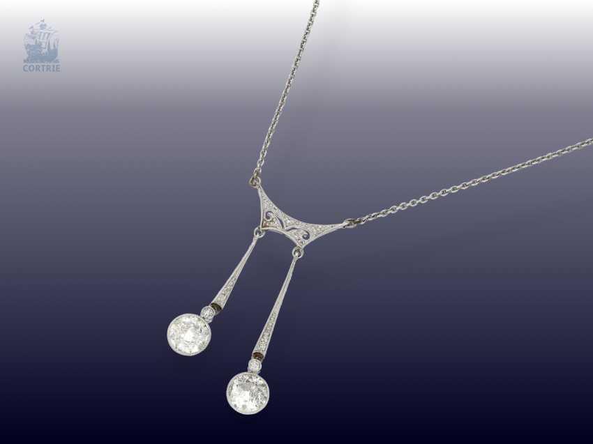 Chain/necklace: elegant antique diamond necklace, probably around 1920 - photo 2