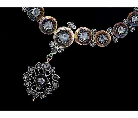 Chain: Museum, Oriental diamond necklace, 19. Century, approx. 10ct diamonds, including opinions - photo 1