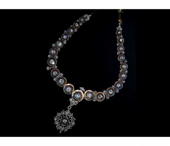 Chain: Museum, Oriental diamond necklace, 19. Century, approx. 10ct diamonds, including opinions - photo 2
