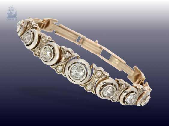 Bracelet: high quality antique diamond bracelet, circa 1900, approx. 4ct - photo 1
