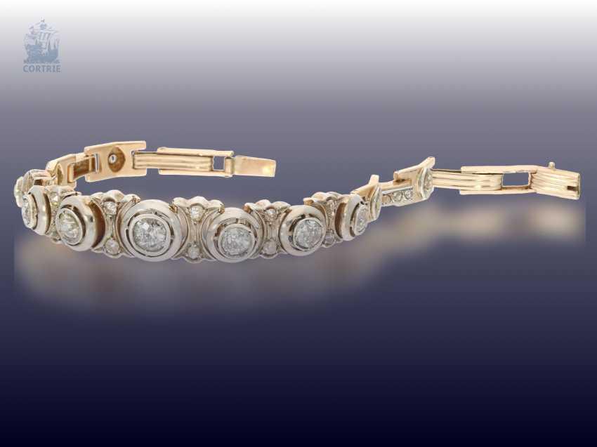 Bracelet: high quality antique diamond bracelet, circa 1900, approx. 4ct - photo 2