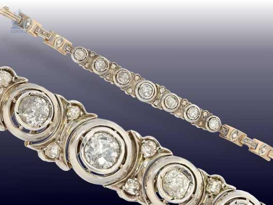 Bracelet: high quality antique diamond bracelet, circa 1900, approx. 4ct - photo 3