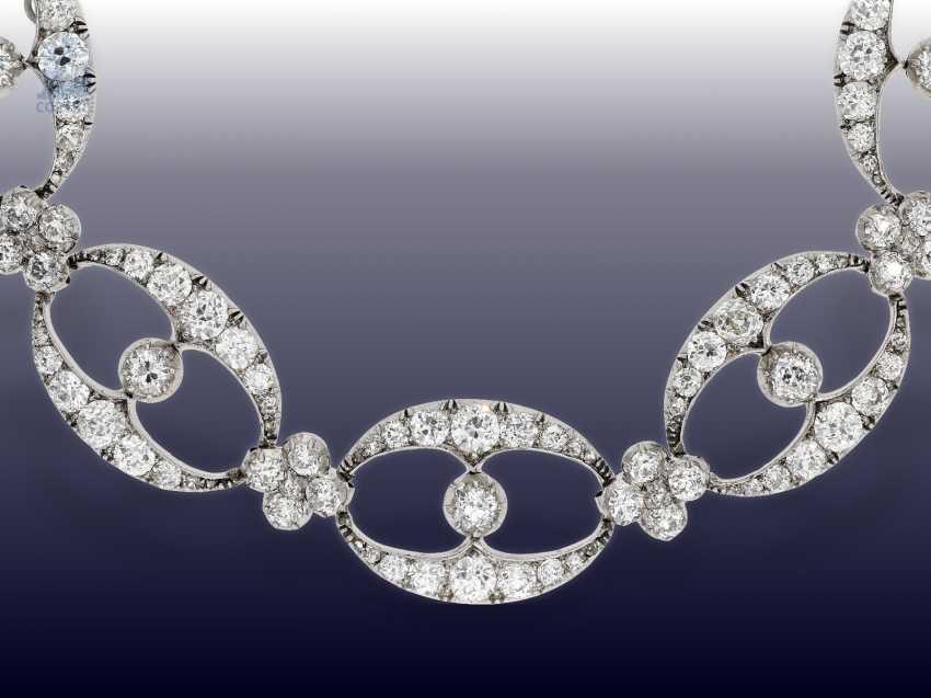 Chain/necklace/bracelet: unique and very valuable antique diamond necklace/diamond-bracelet-jewelry, .25C, Empire Français to 1860 - photo 1