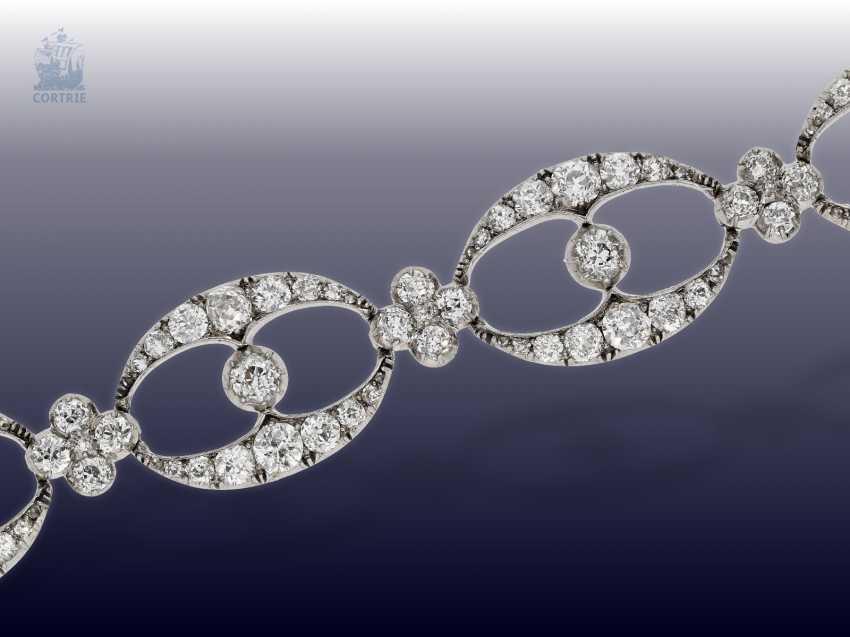 Chain/necklace/bracelet: unique and very valuable antique diamond necklace/diamond-bracelet-jewelry, .25C, Empire Français to 1860 - photo 2