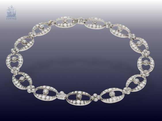 Chain/necklace/bracelet: unique and very valuable antique diamond necklace/diamond-bracelet-jewelry, .25C, Empire Français to 1860 - photo 3