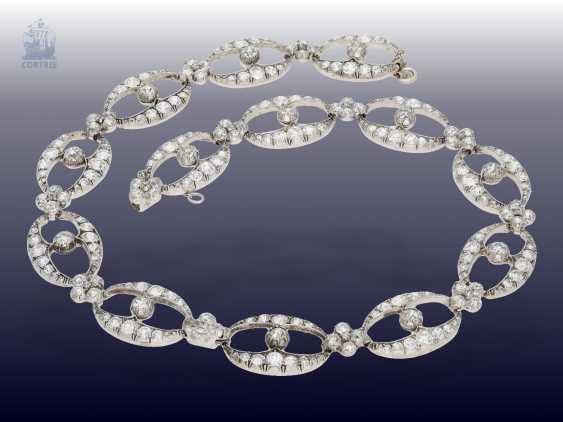 Chain/necklace/bracelet: unique and very valuable antique diamond necklace/diamond-bracelet-jewelry, .25C, Empire Français to 1860 - photo 4