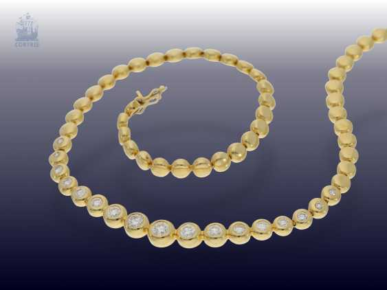 Chain/necklace: classic, valuable, and formerly very expensive vintage brilliant necklace, 3.5 ct - photo 1