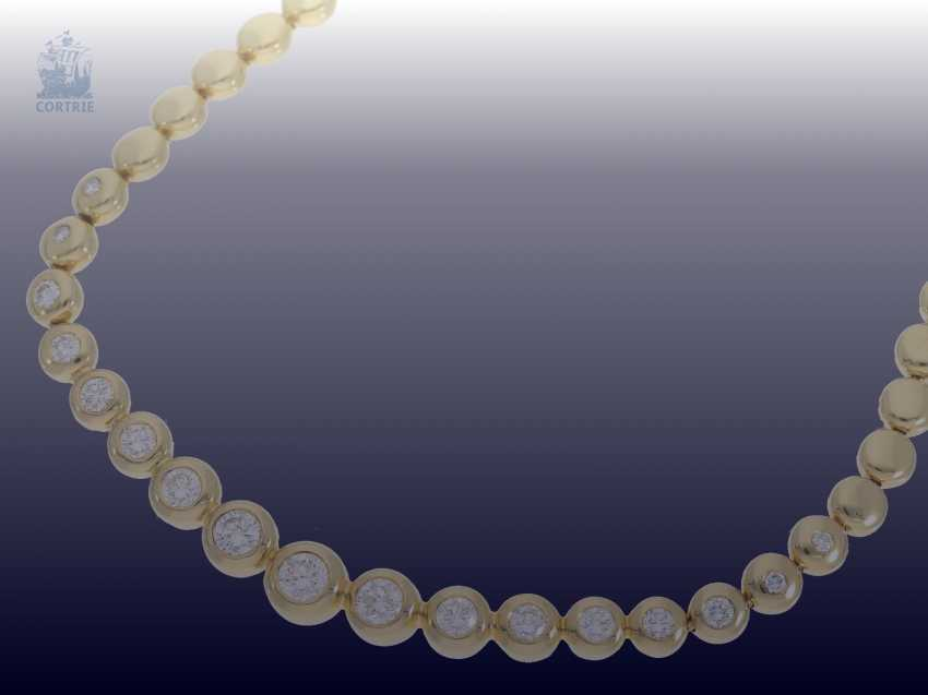 Chain/necklace: classic, valuable, and formerly very expensive vintage brilliant necklace, 3.5 ct - photo 2