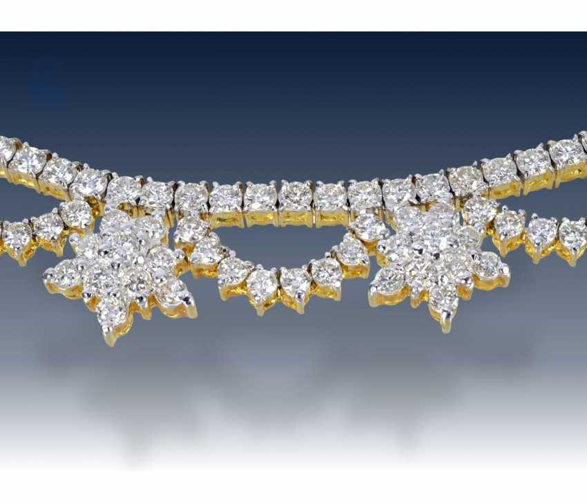 Necklace/Collier: high-quality brilliant necklace in 18K Gold, approx. 4,5 ct - photo 1