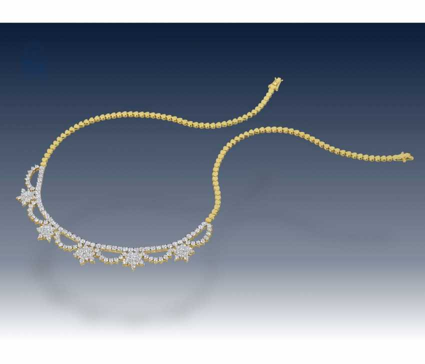 Necklace/Collier: high-quality brilliant necklace in 18K Gold, approx. 4,5 ct - photo 2