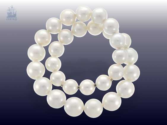 Necklace/Collier: very high quality, like-new cultured South sea clasp pearl necklace with built-in Nittel, NP. 10.000,-€ - photo 3