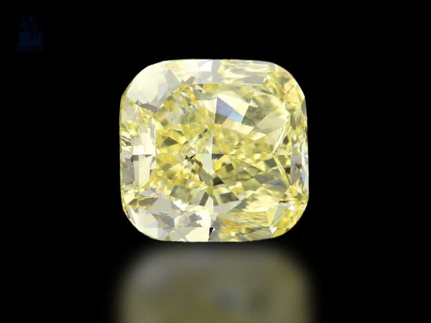 DiamanTiefe: sehr wertvoller Fancy Diamant hervorragender Qualität, GIA-Report, 8,18ct Natural Fancy Yellow/VVS1 - photo 1